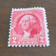 1732-1932 Bicentennial Red George Washington 2 Cent  Stamp Uncancelled