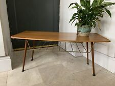 Vintage 1960's Teak Formica Dansette Coffee Table Mid-Century Retro Magazine