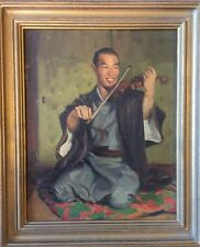 GLEB ILYIN (Russian/American 1889-1968) Japanese Violinist Portrait Painting