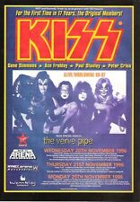 "KISS Alive 1996 UK magazine ADVERT / mini Poster 11 x 8"""