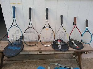 Lot of 6 Aluminum and Composite Tennis Rackets / Racquets