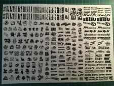 RC DRIFT JDM CAR N1 - BLACK Decal Sticker Label Yokomo MST HPI Tamiya Overdose