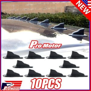 Carbon Fiber Universal Air Vortex Generator EVO Shark Fin Jet Spoiler Diffuser X