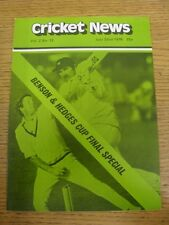 22/07/1978 Cricket News: Vol.02 No.12 - A Weekly Review Of The Game, Benson & He