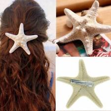 Real Starfish Hair Clips Beach Bridal Sea Shell Mermaid Boho Festival Wedding
