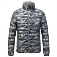 New Men's Windproof Lightweight Puffy Puffer Coat Duck Down Jacket Outdoor Warm