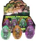 12 JARASSIC WORLD DINOSAUR 3D EGGS novelty toy dino egg puzzle play dinosuars