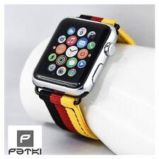 "Nylon Armband "" GERMANY "" für Apple Watch ( 42mm ) Serie 1 / 2 / 3 ... WM 2018"