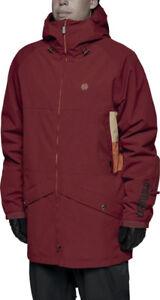 ThirtyTwo VANTAGE Mens Hooded Snowboard Jacket Large Oxblood NEW