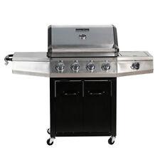 Mater Cook 4 quemadores de gas BBQ Parrilla Cubierta acero inoxidable Portátil