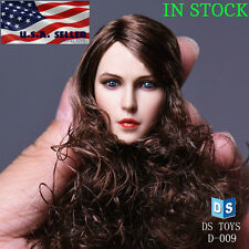 "1/6 Female Head Sculpt Long Curly Hair For 12"" PHICEN Hot Toys Figure Doll ❶USA❶"