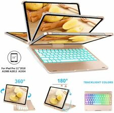 Case For iPad Pro 11'' 2018 Stand Soft Cover Bluetooth Keyboard W/360 Rotating