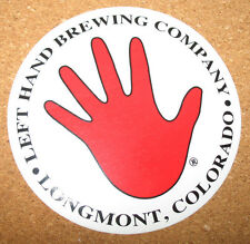 Left Hand Brewing Company Sticker Beer Logo Advertising Longmont, Colorado  NEW