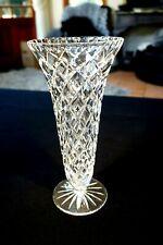 Beautiful Heavy Vintage Crystal Vase.