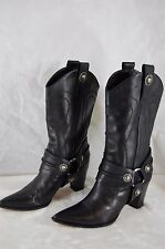 SUPER SEXY!!! CASADEI  HIGH HEEL LEATHER RIDING BIKER  BOOTS  US 8 MADE IN ITALY