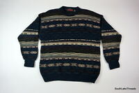 VTG Men's Stone Haven Multi Color Sweater Coogi Style Cosby Geometric Sz Large