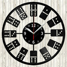 Dominoes Vinyl Record Wall Clock Decor Handmade 2257