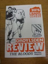 08/10/1991 Droylsden v Whitley Bay  . Item appears to be in good condition unles