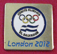 LONDON 2012 Olympic EL SALVADOR NOC Internal team - delegation square pin