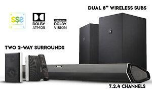 Nakamichi Shockwafe Elite 7.2.4Ch 800W Soundbar w Dolby Atmos, Dolby Vision+SSE.