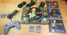 Sony PlayStation Tomb Raider Konsole + 3 Spiele - für Bastler / ungetestet