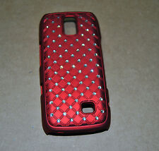 CUSTODIA COVER per NOKIA ASHA 308 309 DIAMOND ZIRCONIA CASE ROSSA