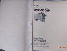 SONY BVP900P CAMERA SUPER MOTION  MAINTENANCE  MANUAL