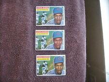 1956 TOPPS BASEBALL #15 ERNIE BANKS LOT OF (3) CHICAGO CUBS CARDS