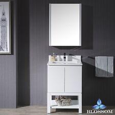 "BLOSSOM 24"" MONACO SINGLE SINK BATHROOM VANITY IN MATTE WHITE"