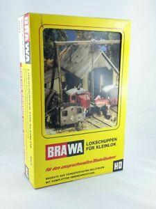 BRAWA 0701 Lokschuppen für Kleinlok mit Inneneinrichtung (Set)》OVP NEU MINT《#EM2