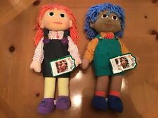 Tots Tv 1997 Tilly+ Tom (No Glasses) 15� Foam Bendable 15�Dolls W/ Tags *Nos*