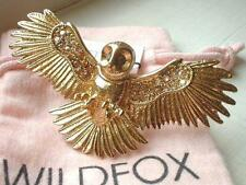 WILDFOX COUTURE 10KT GP/SWAROVSKI CRYSTALS/QUARTZ OWL RING**SZ 6**1 LEFT!!