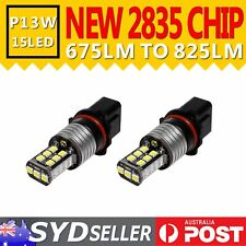 Pack of 2pcs P13W 15 LED Light Auto Daytime Driving DRL Fog Running Lamp Bulbs