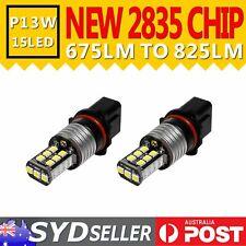 Pack of 2pcs P13W 15 LED Light Auto Daytime Driving DRL Fog Running Lamp Bulbs
