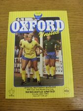 26/10/1983 Oxford United v Newcastle United [Football League Cup] (Possible Auto