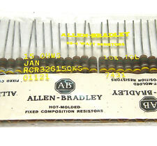 25x Allen Bradley Widerstand, 15 Ohm / 1 W, Vintage Tube Amp Resistors, NOS