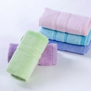 5pcs/set/ 5color 34*76cm soft feel skin-friendly bamboo nature fiber face towel