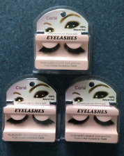 Claire Eyelashes: Black, Made out of Natural Hair - 3 Pieces Set