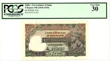 India ... P-15b ... 5 Ruppes ... ND(1928-1935) ... *VF-XF* ... PCGS 30. (VF-XF).