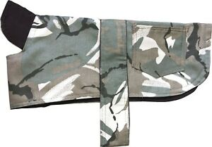 Dog Coat Jacket Cotton Camo Camouflage Showerproof Hook and Loop Straps  Puppy