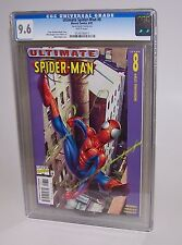 CGC Graded Marvel Comic Book 9.6 Ultimate Spider-Man #8 6/01 Working Stiff