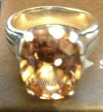 Rare Silpada Champagne Cubic Zirconia 925 Sterling Silver Ring Size 6 R1318