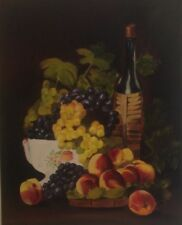 "Fruits and Bottle of Wine 24""x30""  Hand Painted"
