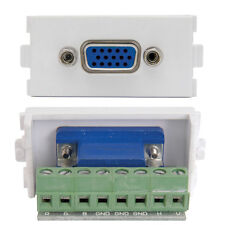VGA FEMALE SOCKET MODULE/MODULAR SCREW TERMINAL - SVGA WALL FACE PLATE OUTLET