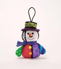Britto Christmas Snowman Soft Plush Hanging Tree Ornament  NEW