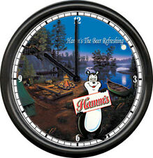 Hamm's Hamms Camping Beer Bear Bar Tavern Sign Wall Clock