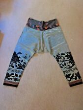 Vintage, Pair Of Asian / Chinese Silk Embroidered Drawstring Pant ~ 36 W