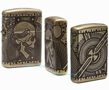 ZIPPO Feuerzeug STEAMPUNK SKULL Antique Brass 360° Multicut Totenkopf NEU OVP