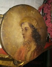 Gypsy oil painting 1886 on Tambourine Instrument