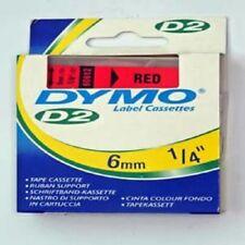 DYMO D2 cassette à ruban d'étiquette rouge écriture noire 6 mm/10m ref 60612